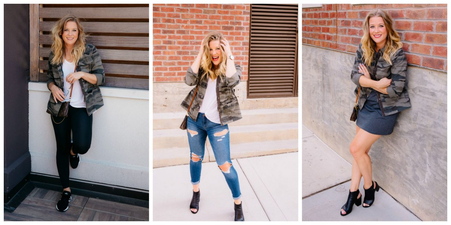 Three ways to wear a military jacket this fall!